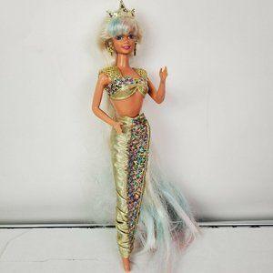VTG 1995 Barbie Jewel Hair Mermaid Doll Long Hair
